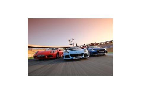Test TT RS, Exige 380, 718 BoxsterS: Purist mischt Premium-Roadsterauf