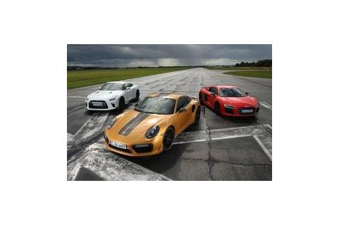 911 gegen Nissan GT-R und AudiR8: Dreikampf in der600-PS-Liga