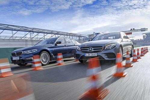 BMW 530i vs. Mercedes E300: Früher V8, heute Reihe4