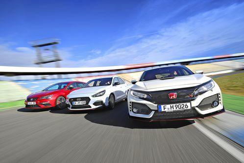 Honda, Hyundai und Seat imTest: Dreikampf imKompaktsegment