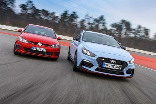 Test Hyundai i30 N vs. VW GolfGTI: Ein bisschen Haue für denGTI