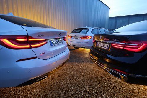 5er Touring, 6er GT und 7erlang: Drei BMW imKonzeptvergleich
