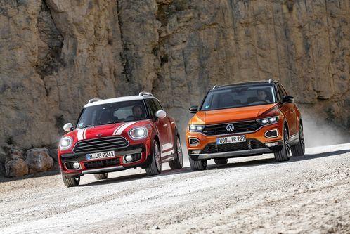 VW T-Roc gegen MiniCountryman: Kleine Diesel-SUV imTest