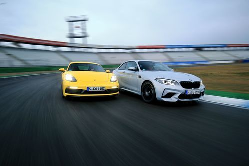 BMW M2 Competition und Porsche 718 Cayman GTS im Test: BMW in Competition: Reichen 410 PS für die Krone?