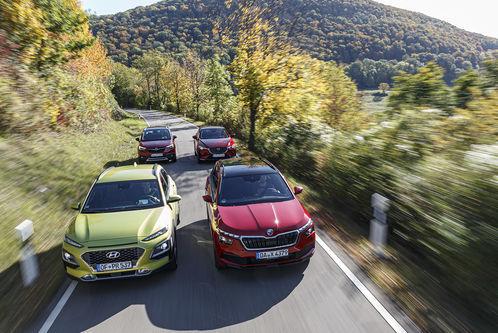 Hyundai, Mazda, Opel, Skoda im Test: Kann's der Kamiq so gut wie Kona, CX-3 und Crossland X?
