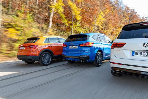 Audi Q3, BMW X1, VW Tiguan: Konkurrenzkampf der SUV-Geschwister