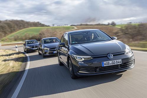 VW Golf 2.0 TDI, Mercedes A 200d, BMW 118d im Test: Jetzt muss der Golf gegen die Premium-Konkurrenz ran