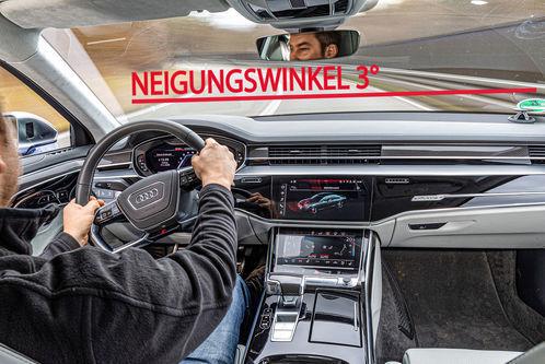 Audi S8 mit neuem Fahrwerk: Dieser Audi gerät in Schieflage