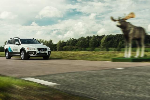 Volvo Sicherheitstechnik - Ich bremse auch für Elche