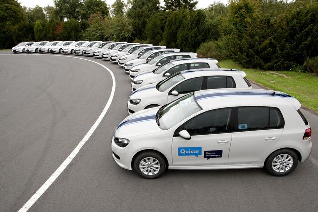 VW Quicar - Golf auf Minutenbasis mieten