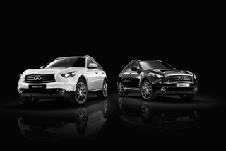 Infiniti-Sondermodell Black and White Edition - Schwarz-Weiß-Malerei