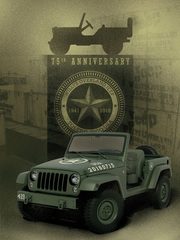 Jeep Wrangler 75th Salute - Willys Enkel steht stramm