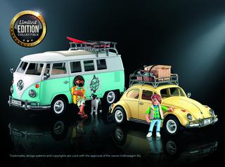 Playmobil VW-Modelle - Surfen oder Putzen