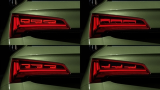 Neue OLED-Rückleuchten-Generation von Audi - Display der Außenhaut