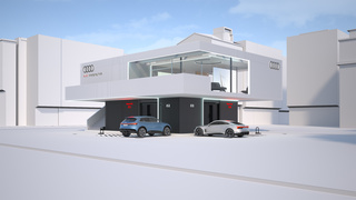 Audi Charging Hub   - Business-Lounge für E-Autofahrer