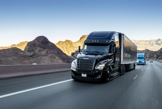 Hightech-Lastwagen auf der CES 2019 - Goodbye Platooning