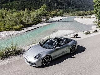 Porsche 911 Targa 4S - Halb offen