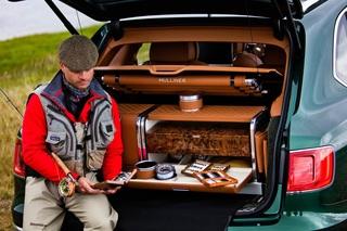 Handgefertigtes Zubehör für den Bentley Bentayga - Fliegenfischen m...