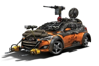 Hyundai Veloster Zombie Survival Machine  - Kettensägen gegen die A...