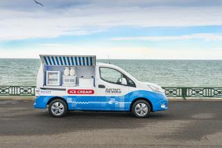 E-Transporter als Eiswagen - Sauberer Sommergenuss