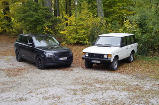Impression: Range Rover V8 Urmodell trifft Range Rover V8 Superchar...