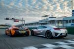 Honda NSX gegen McLaren570S: Drehmomenthammer trifft&...