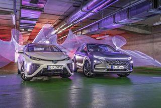 Hyundai Nexo vs. ToyotaMirai: Brennstoffzellen-Autos imTest