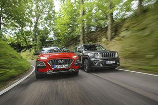 Jeep Renegade 1.0 T-GDI und Hyundai Kona 1.0 T-GDI: Was können die ...
