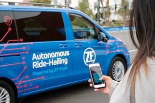 Robo-Taxi von ZF auf der CES in Las Vegas - Vorreiter des fahrerlos...